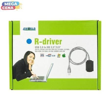 4World Adapter USB 2.0 do IDE 2.5/3.5''