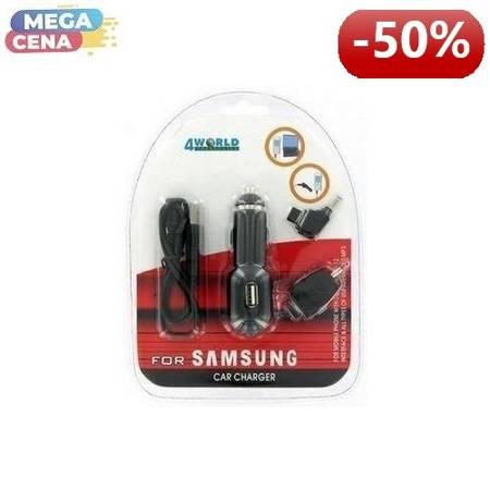 4World Uniwersalna ładowarka samochodowa Samsung X800/D800 SAM/USB