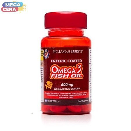 Olej Rybi Omega-3 500 mg 60 Kapsułek Powlekanych