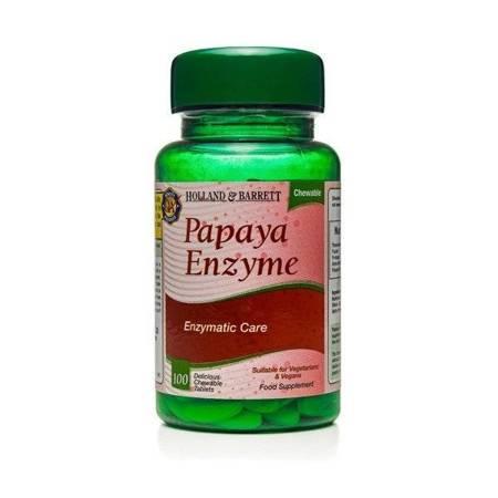 Papaina 100 Tabletek do Żucia