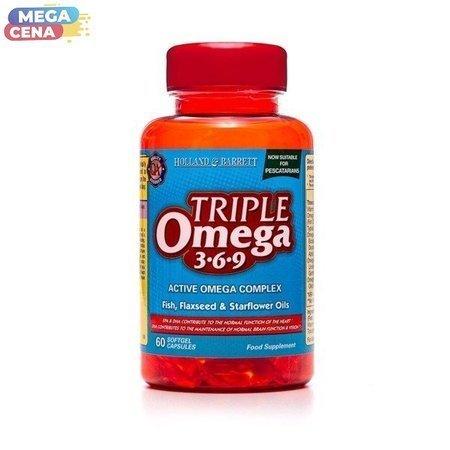 Potrójny Kwas Omega 3-6-9 dla Pescowegetarian 60 Kapsułek Żelowych