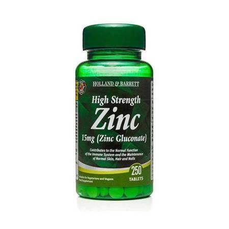 Silnie Działający Cynk 15 mg 250 Tabletek