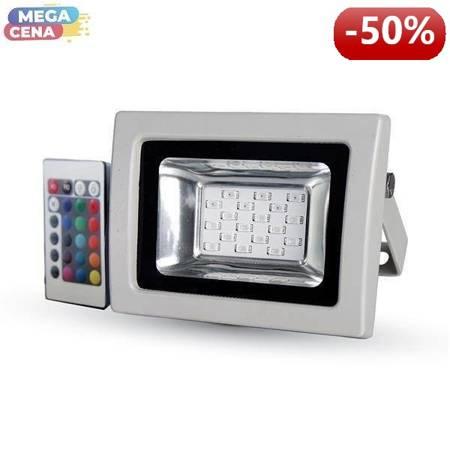 V-TAC Naświetlacz LED VT-4711 Reflektor LED 10W RGB z pilotem podczerwieni SMD