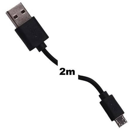 Whitenergy Kabel do przesyłu danych, Micro USB, 200cm, czarny