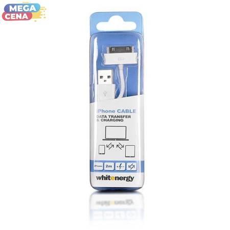 Whitenergy Kabel iPhone 4 - USB 200cm Biały