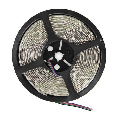 Whitenergy Taśma LED 5m 30szt/m SMD5050 7.2W/m 12V IP65 10mm RGB bez konektora