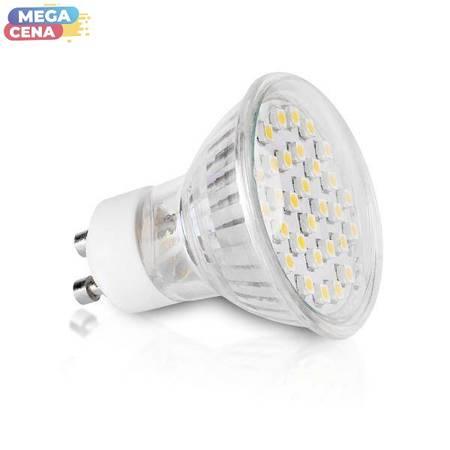 Whitenergy Żarówka LED 1.5W  GU10 MR16 SMD3528 ciepła 230V Halogen / szybka