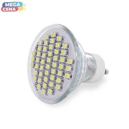 Whitenergy Żarówka LED 2.5W  GU10 MR16 SMD3528 zimna 230V Halogen / szybka