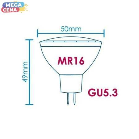 Whitenergy Żarówka LED 3.5W  GU5.3 MR16 SMD5050 zimna 230V Halogen / szybka