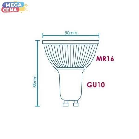 Whitenergy Żarówka LED MR16 GU10 3W  Ciepła biała Szkło