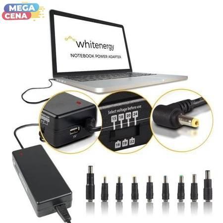Whitenergy Zasilacz AC Ładowarka do laptopa uniwersalna 90W 15-24V 4.5A 10 wtyczek manualny