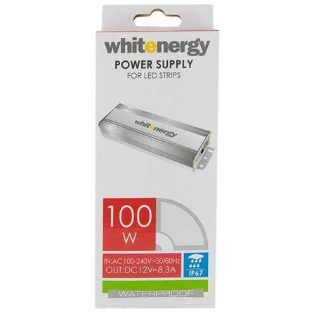 Whitenergy Zasilacz LED WATERPROOF IP67 230V|100W|12V