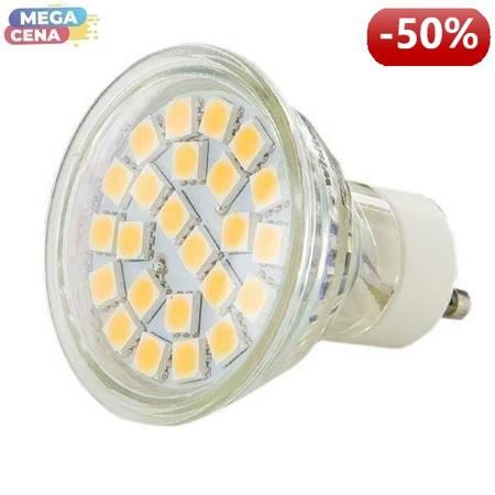 Whitenergy Źródło LED 24xSMD5050 MR16 GU10 3.5W 230V ciepłe białe bez szybki