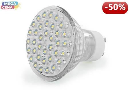 Whitenergy Źródło LED|38xDIP|MR16|GU10|2W|230V|ciepłe białe|bez szybki
