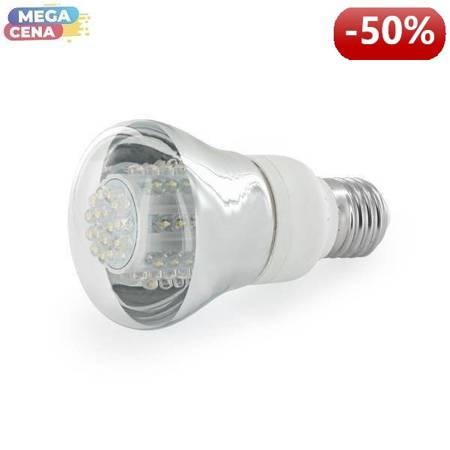 Whitenergy Źródło LED 80xDIP R63 E27 4W 230V zimne białe transparentne