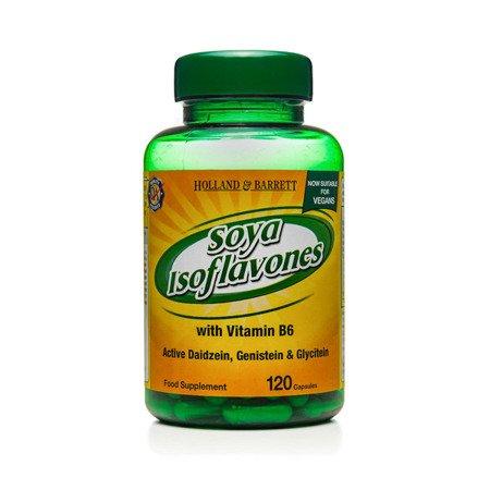 Zestaw Suplementów 2+1 (Gratis) Izoflawony Sojowe z Witaminą B6 Produkt Wegański 120 Kapsułek