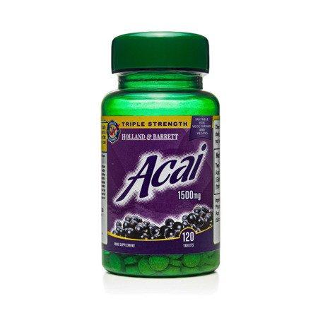 Zestaw Suplementów 2+1 (Gratis) Jagody Acai 1500 mg 120 Tabletek