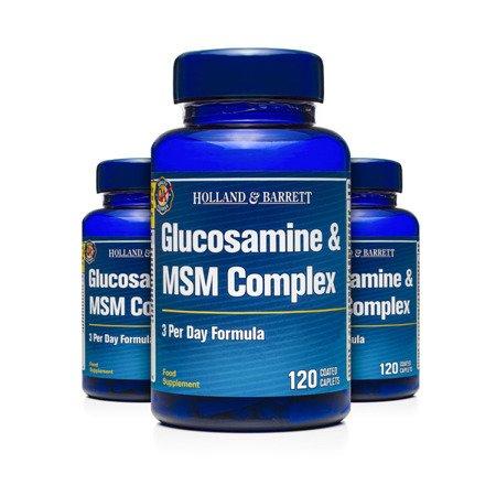 Zestaw Suplementów 2+1 (Gratis) Kompleks Glukozaminy i MSM 120 Kapletek
