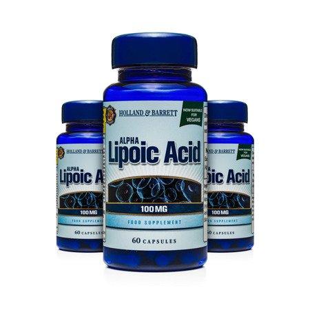 Zestaw Suplementów 2+1 (Gratis) Kwas Alfa-liponowy 100 mg Produkt Wegański 60 Kapsułek