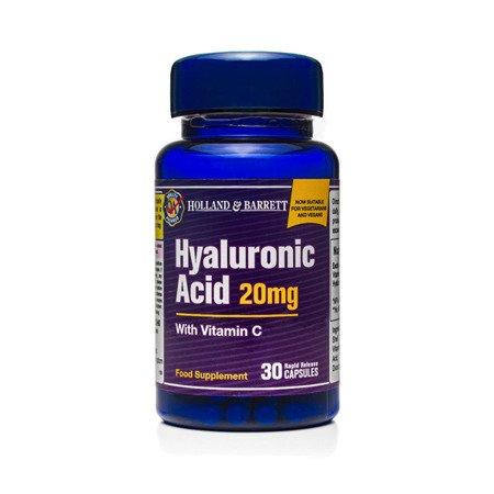 Zestaw Suplementów 2+1 (Gratis) Kwas Hialuronowy z Witaminą C 20 mg 30 Kapsułek