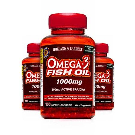 Zestaw Suplementów 2+1 (Gratis) Olej Rybi Omega-3 1000 mg dla Pescowegetarian 100 Kapsułek Żelowych