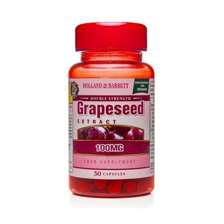 Zestaw Suplementów 2+1 (Gratis) Podwójna Siła Ekstrakt z Pestek Winogron 100 mg Produkt Wegański 50 Kapsułek