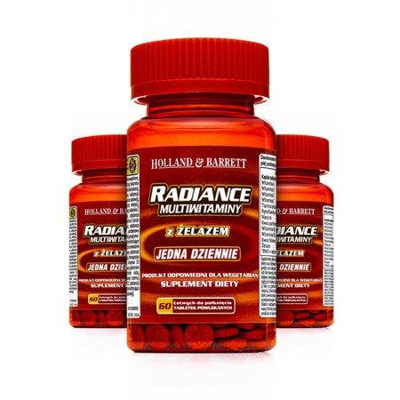 Zestaw Suplementów 2+1 (Gratis) Radiance Multiwitaminy i Żelazo 1 na dzień 60 Tabletek