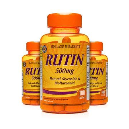 Zestaw Suplementów 2+1 (Gratis) Rutyna 500 mg 100 Tabletek
