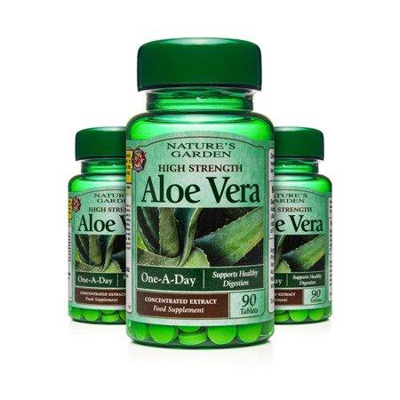 Zestaw Suplementów 2+1 (Gratis) Silnie Działający Aloes Nature's Garden 90 Tabletek