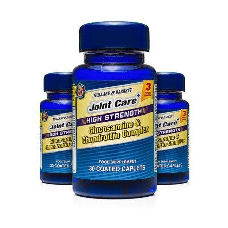 Zestaw Suplementów 2+1 (Gratis) Silnie Działający Kompleks Glukozaminy i Chondroityny 30 Kapletek