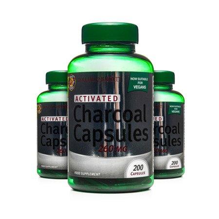 Zestaw Suplementów 2+1 (Gratis) Węgiel Aktywny 260 mg Produkt Wegański 200 Kapsułek